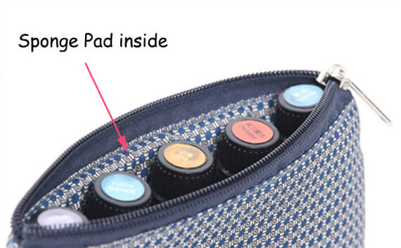 essential oil bag zipper stylish essential oils travel case Effect picture