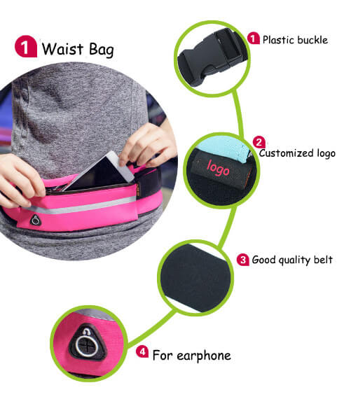 Waist Bag gym sports bag bike bag Travel Running Waist Pack Fanny Pack  Effect picture