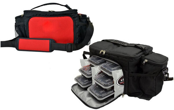 Insulated Lunch Bag Travel Picnic 6 Meal Management System right side