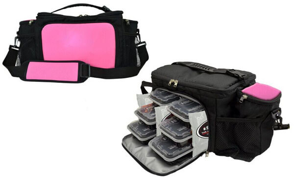 Insulated Lunch Bag Travel Picnic 6 Meal Management System side