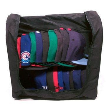 Storage Bag Baseball Cap Hat Zipper Shut Organizer Bag a open side