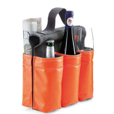 Wine Bag Tote 6 Bottle Carrier Wine Bottle Bag For Bike a front