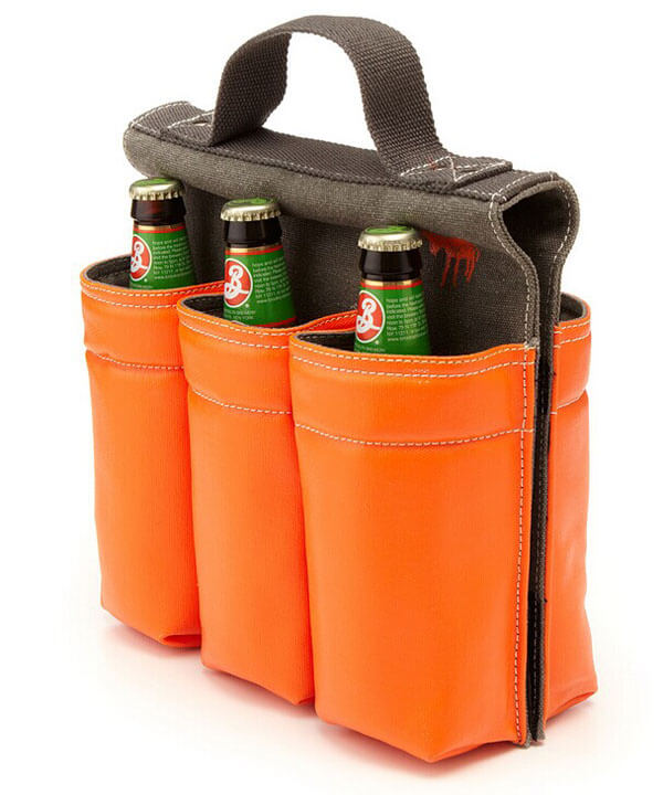 Wine Bag Tote 6 Bottle Carrier Wine Bottle Bag For Bike balck