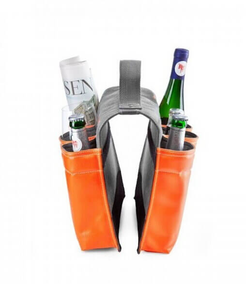 Wine Bag Tote 6 Bottle Carrier Wine Bottle Bag For Bike right side