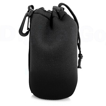 Drawstring Bag Protective Neoprene Pouch Bag For Camera Lens middle soze
