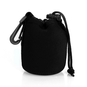 Drawstring Bag Protective Neoprene Pouch Bag For Camera Lens small size