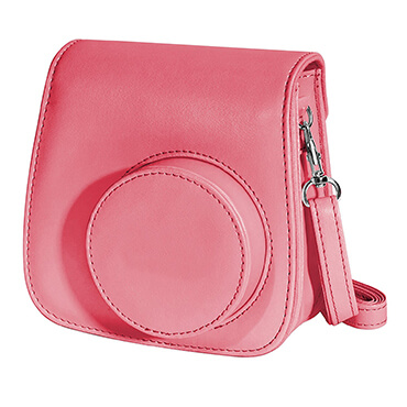 Small Shoulder Traveling Leather Dslr Camera Bag A pink