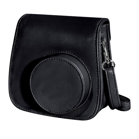 Small Shoulder Traveling Leather Dslr Camera Bag Black