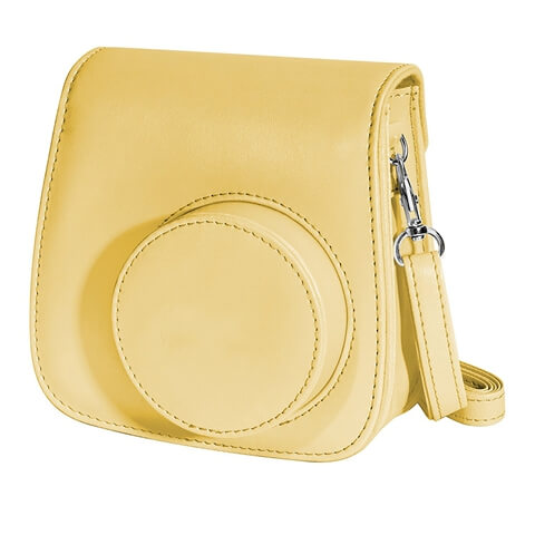Small Shoulder Traveling Leather Dslr Camera Bag Yellow