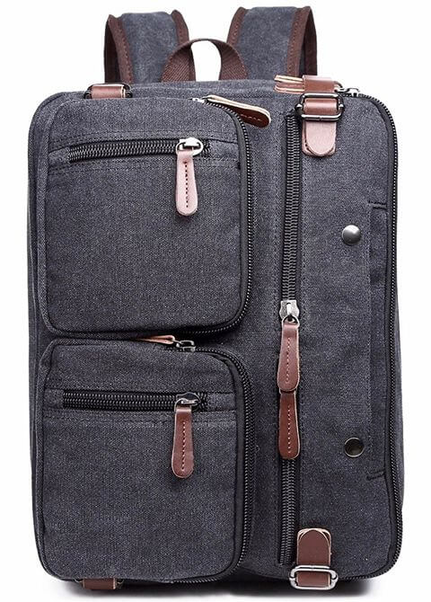 Man Briefcase Laptop Business Bag Front