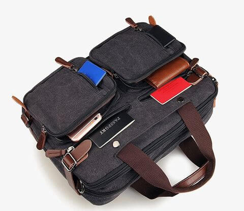 Man Briefcase Laptop Business Bag top
