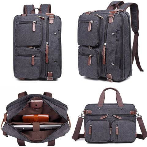 Man Briefcase Laptop Business Bag inside