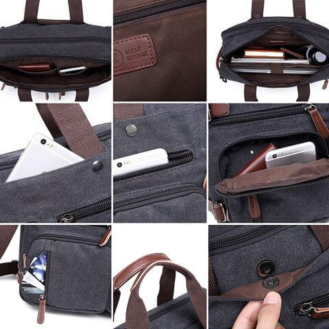 Man Briefcase Laptop Business Bag details