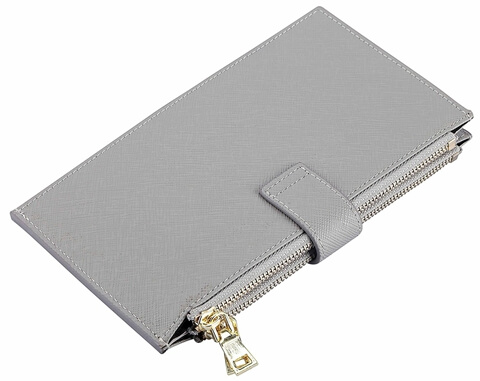 Genuine Leather RFID Travel Card Wallet close