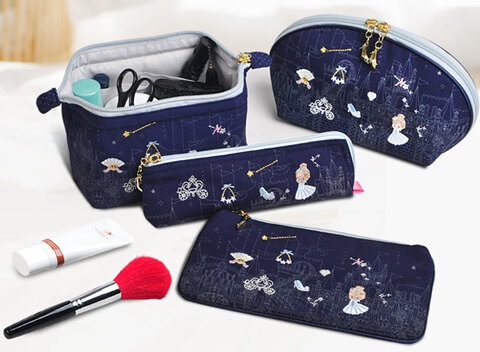 Portable Embroidery Storage Wholesale Canvas Cosmetic Bag big