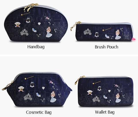 Portable Embroidery Storage Wholesale Canvas Cosmetic Bag four