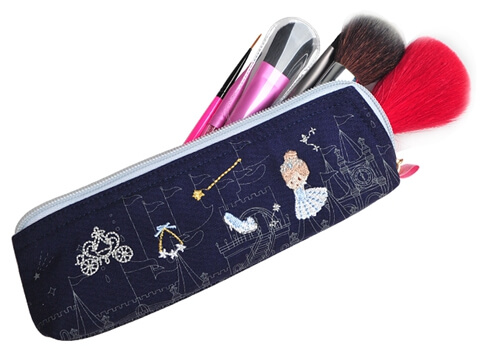 Portable Embroidery Storage Wholesale Canvas Cosmetic Bag brush