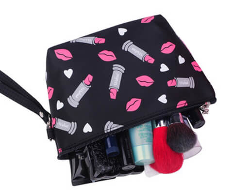 2017 New Small Lipstick Cosmetic Pouch open