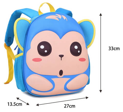 Child New Design Kids School Bag size