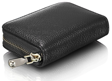 Leather Wallet ID Credit Card Holder side