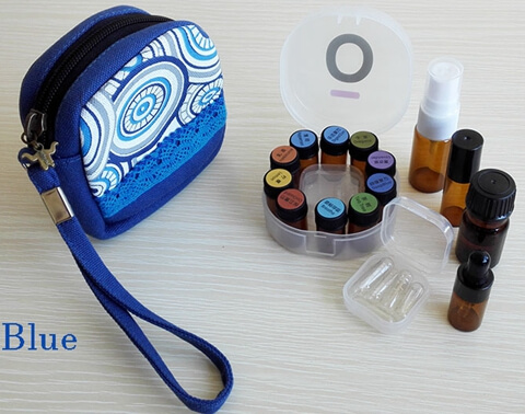 Carrying Essential Oil Bag For Young Living And doTERRA blue