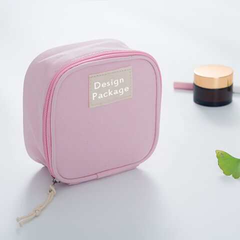 Customized Sanitary Napkin Make Up Cosmetic Bag front