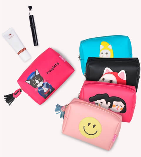 Wholesale Carry Travel Cosmetic Make Up Bag Pouch Five ITEM