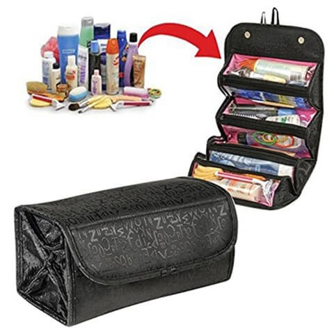 pouch toiletry organizer multifunction black custom bag