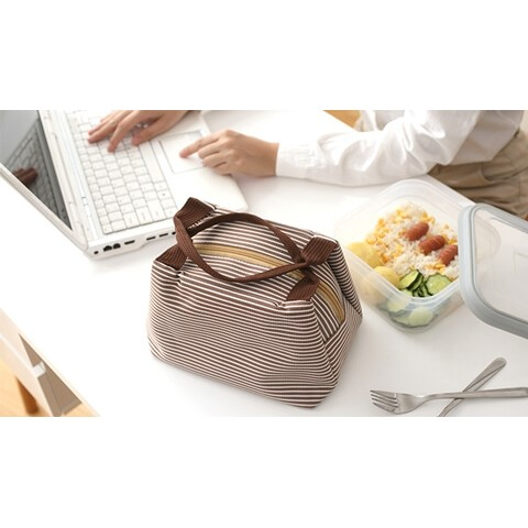 Insulated Cooler Lunch Bag gray