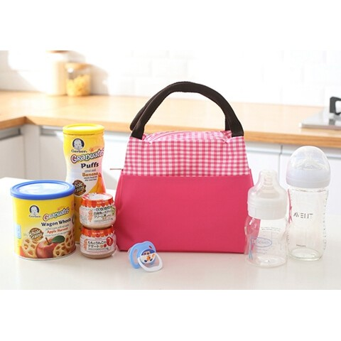 Insulated Cooler Lunch Bag pink