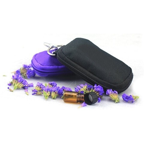 Travel Essential Oil Key Chain Pouch black