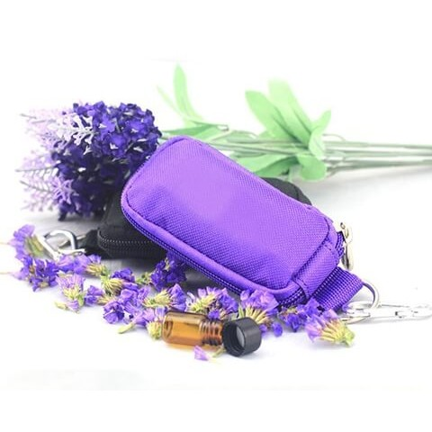 Travel Essential Oil Key Chain Pouch front