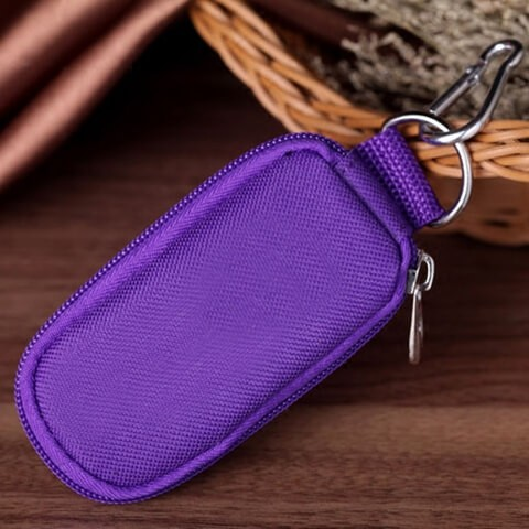 Travel Essential Oil Key Chain Pouch puple