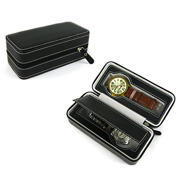 Leather Collect 2 Piece Compartment Watch Case