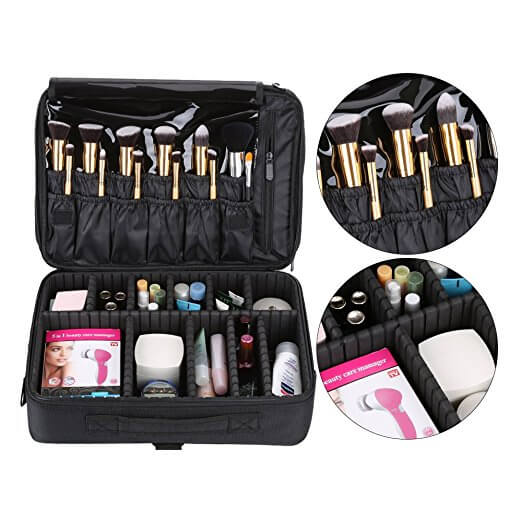 Large Space Handle Shoulder Makeup Brush Bag