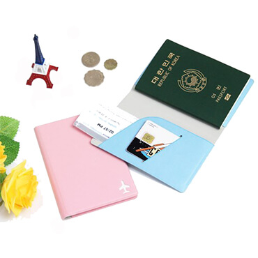 Personalized Leather Cover Passport Holder