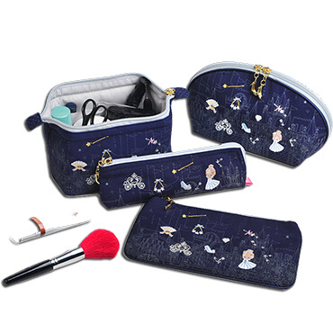 Portable Embroidery Storage Wholesale Canvas Cosmetic Bag