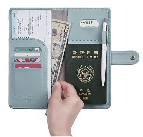 Custom Travel Wallet Leather Passport Holder Effect picture