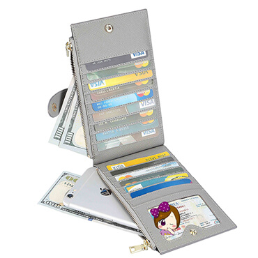 Genuine Leather RFID Travel Card Wallet Effect picture