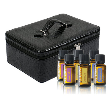 PU Fake Crocodile Pattern Essential Oil Carrying Case Effect picture