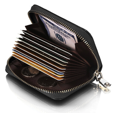 Leather Wallet ID Credit Card Holder
