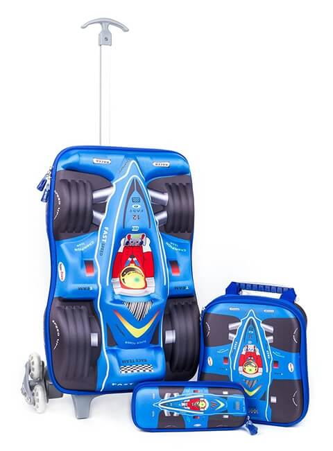 3D Car Racing Design Kid School Luggage Effect picture
